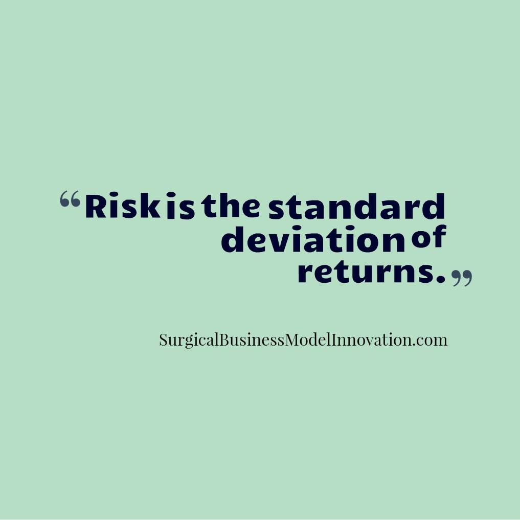 Risk Is The Standard Deviation of Returns