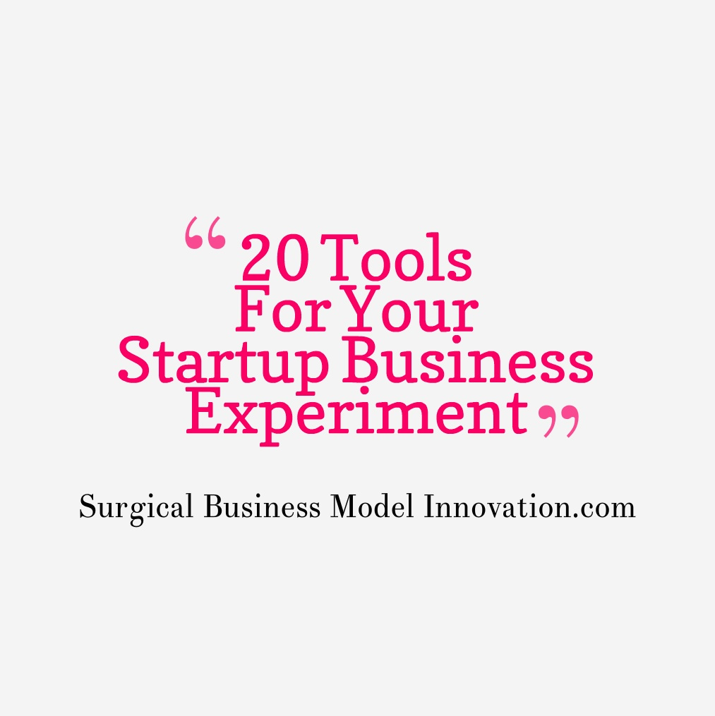20 Useful Tools For Your Startup Business Experiment