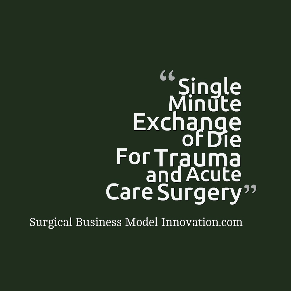 Single Minute Exchange of Die For Trauma & Acute Care Surgery