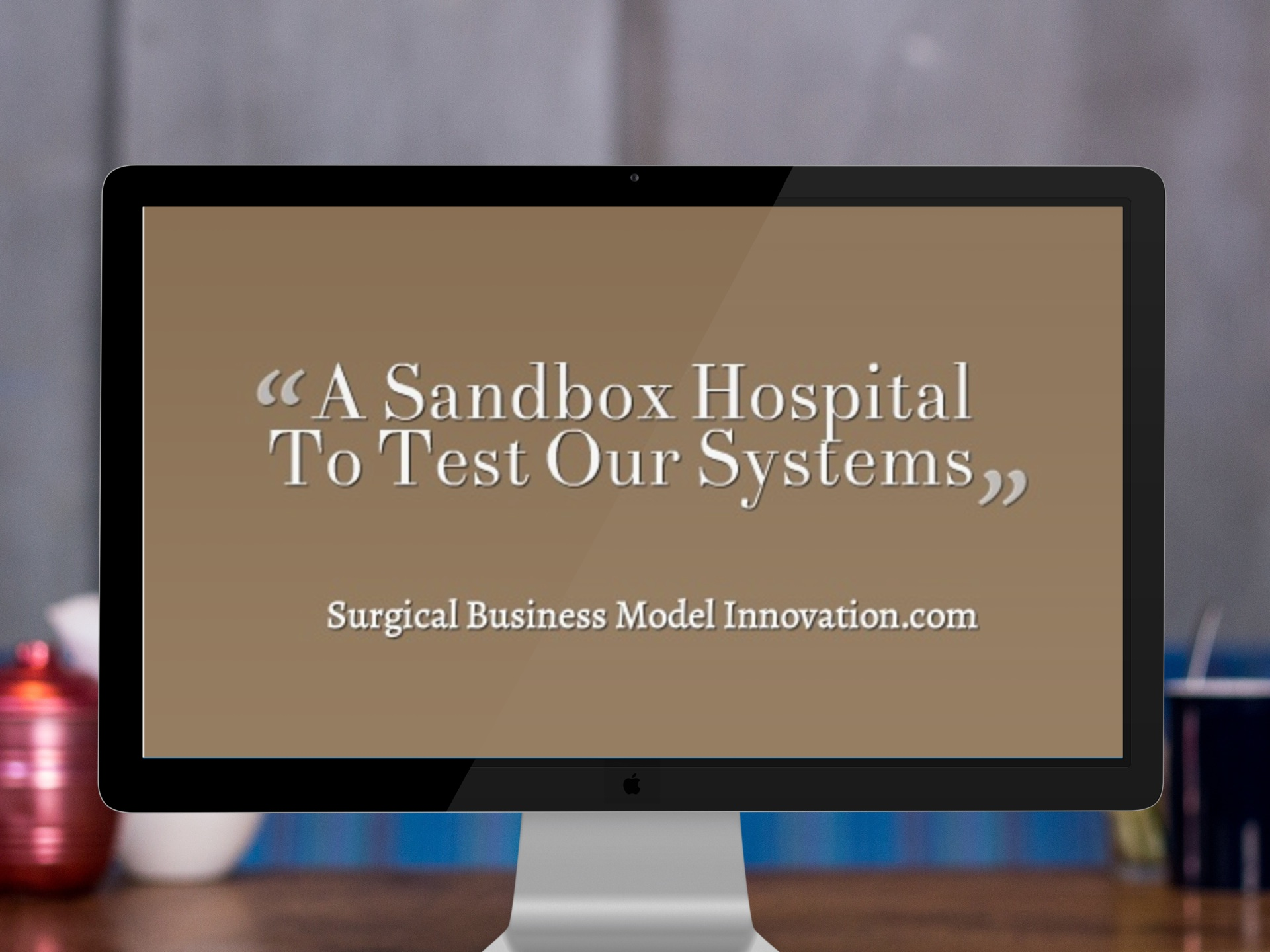 The Idea:  A Sandbox Hospital To Test Our Systems